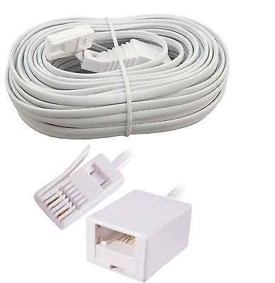 3M BT male to female Telephone Extension Cable Wire Cord Phone Fax Modem