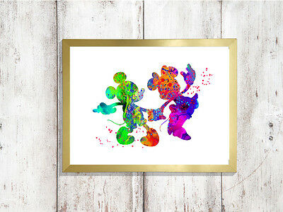 minnie mouse print picture a4 glossy Print nursery gift .UNFRAMED