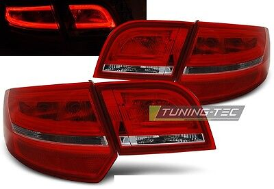 New Set Rear Tail Lights Rht Ldaua7 Audi A3 8P 2004-2008 Sportback Red White Led