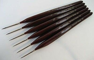 Extra Fine Detail Paint Brush Set of 6 Artist Miniatures, Model Maker, Warhammer
