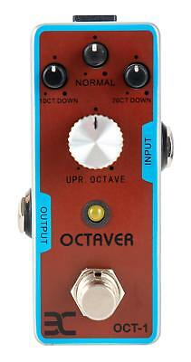Electric Guitar Effect Pedal Octaver Fuzz Sound Button Stomper Jack 6.35mm Red