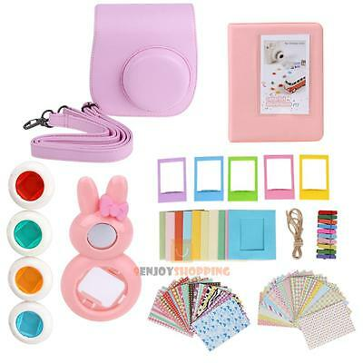 7 in 1 Instant Film Camera Accessories Bundles for Fujifilm Instax Mini 8 Pink