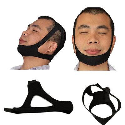 Triangle Anti ronflement Stop ronflement sommeil Chin Jaw Support néoprène