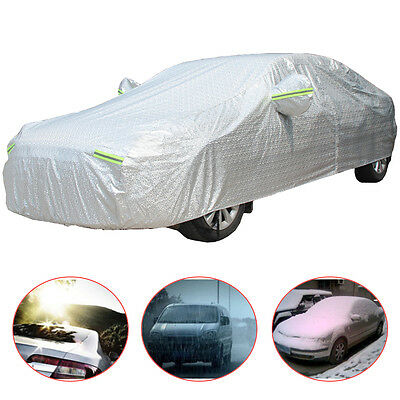 3 Layer Universal Large Heavy Duty Waterproof Car Cover Cotton Lining UK SELLER