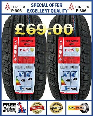 2 x 195/60R15 88V HAIDA NEW 2 QUALITY TYRES.1956015 LOW PRICE BUDGET, NEW TYRES