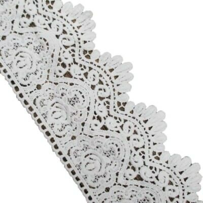 3-1/2 Inches by 4 Yards Soft White Cotton Eyelet Lace Trims Fabric Dress Edge