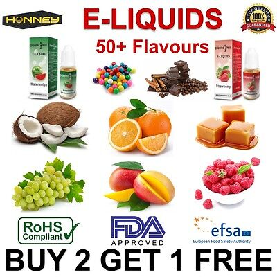 New 2017 E-Cig Flavour 10ml 0MG E-Liquid Vape EJuice Vapour Natural Refil Oil UK