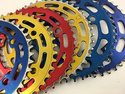 Sugino Chainring Red Gold Blue 40 41 43 44 Used - Old School Bmx - Freepost