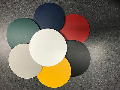 "Black PVC Sintra Circle 1/4"" Thick Circle Disc 8"" Diameter  ( 6 pack)"