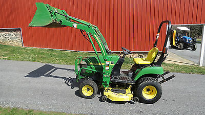 2006 John Deere 2305 4X4 Compact Utility Tractor W/ Loader & Belly Mower 370 Hrs