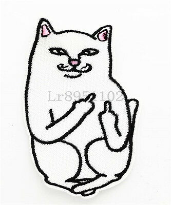 Cat Dly Clothes pants hat Iron on Embroidered Badge Applique Patches U37