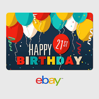 eBay Digital Gift Card - Happy 21st Birthday -  Fast email delivery