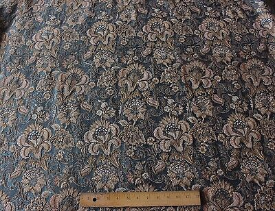 Stunning French 19thC c1870 Lyon Silk & Cotton Jacquard Curtain Fabric Panel