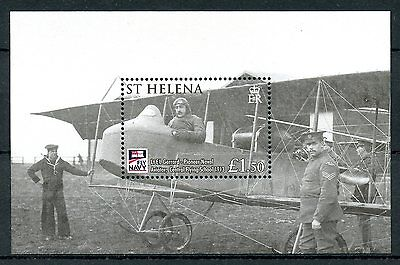 St Helena 2009 MNH Naval Aviation Centenary Fly Navy 1v M/S Planes Stamps