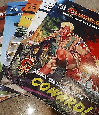 Commando Comics (One pack of 4 comics, unopened, as new and unread)