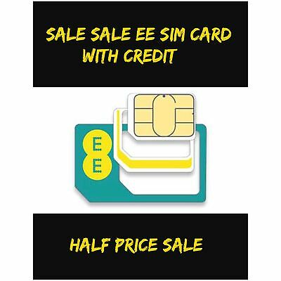 EE  Pay AS YOU Go Sim PACK With £10 Of Credit Included Only £4.99