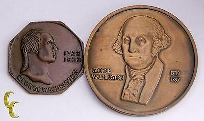 Lot of 2 George Washington Medals 1st President, Bicentennial of Birth