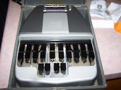 Vintage LaSalle La Salle Court Stenography Machine Stenotype 8061