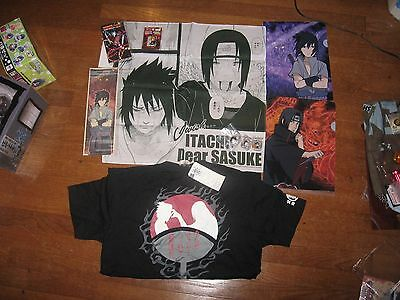 Itachi Sasuke Uchiha official merchandise LOT - shirt, figures, folders, etc...