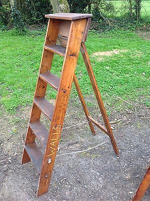 Antique Vintage Step Ladder Work Ladder