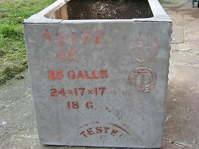 small galvanised riverted water tank garden planter