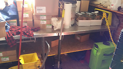 Stainless Steel Table  32 inch x 10 ft long
