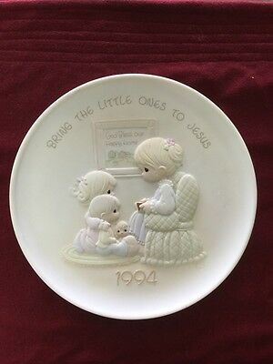 "1994 Precious Moments Collector Plate ""Bring The Little Ones To Jesus"" #531359"