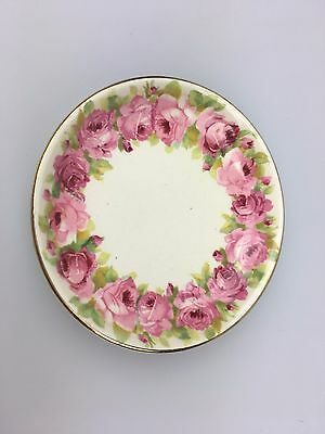 Vintage - Royal Doulton - Small Dish 9.5 Cm Round - Pink Flowers - England