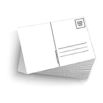 """50 Blank Mailable 4""""x6"""" Heavy Duty 14PT Postcards with Mailing Side New"""