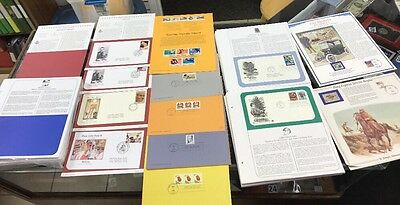 196 First Day Issue 1st Day Cover Stamps + New Pages W/out Stamps