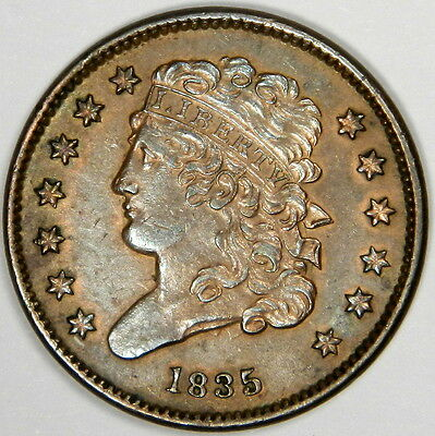 1835 Half Cent - Nice And Original Bu Ms Uncirculated - Priced To Sell Fast!
