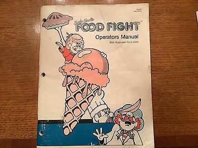 Original 1983  Atari Food Fight Video Arcade Manual With Schematics Package