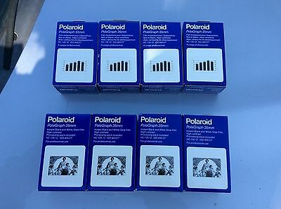 Lot of 8x Polaroid Instant 35mm Film PolaGraph 12 Exposures Expired '93
