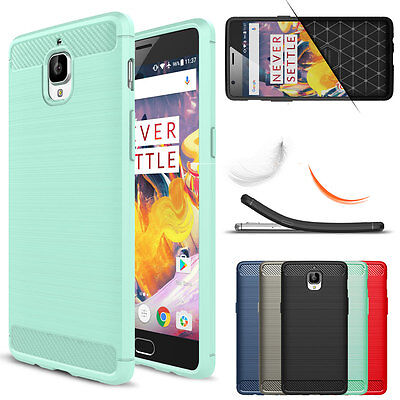 Shockproof Brushed Silicone Camera Protection Slim Back Case For OnePlus 3 / 3T