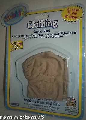 GANZ® Webkinz Khaki Cargo Pants fits Most Webkinz Dogs and Cats-Sealed w Code!