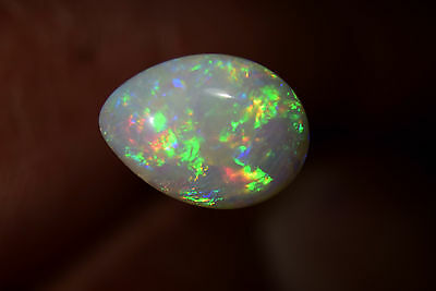 FIRE IN THE STONE SOLID OPAL Australian Coober Pedy Natural Genuine 2.5 Cts