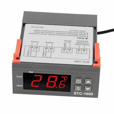 Universal STC-1000 Digital Temperature Controller Thermostat With Sensor AC 220V