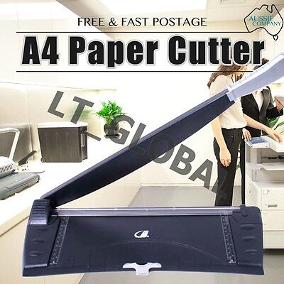 A4 Size Paper Photo Film Cutter Guillotine Trimmer Knife Metal 3 Sheets Capacity