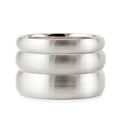 Solid 14K White Gold 2Mm 3Mm 4Mm 5Mm 6Mm Brush Comfort Fit Wedding Band Ring