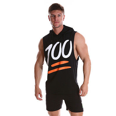Men's Gym Singlet Training workout Tank Top Muscle training Sleeveless Hoody