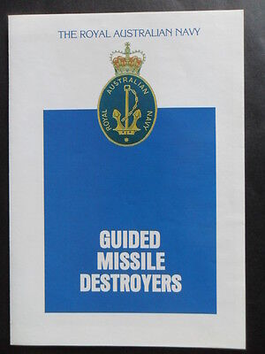 Naval Royal Australian Navy GUIDED MISSILE DESTROYERS Welcome Aboard 1990's