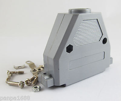 4sets Grey D-Sub DB37 37Pin Plastic Hood Cover for 37 Pin 2 Row D-Sub Connector