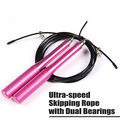 Jump Rope Ultra-speed Skipping Rope with Dual Bearings Crossfit Boxing