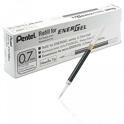 Pentel Refill Ink for EnerGel 0.7mm Needle Tip Liquid Gel Pen, Pack of 12, Blue