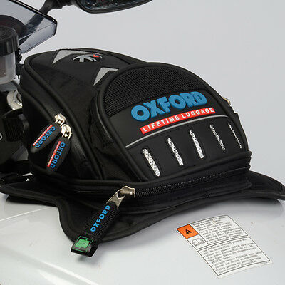 Oxford Motorcycle Motorbike Life Time X 2 Exp Tank Bag Daypack Luggage Bag Black