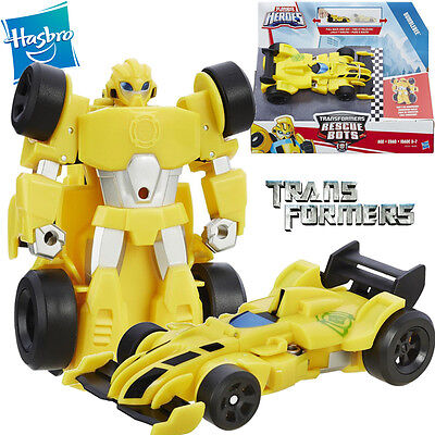 Playskool Transformers Rescue Bots Bumblebee Robot Kid Pull Back Diecast Car Toy