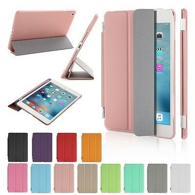Slim Leather Smart Cover Back Skin Case for Apple iPad Mini 1 2 3 4 Air 1 Air 2