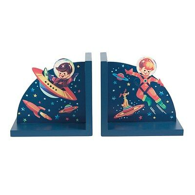 Gorgeous Wooden Retro Space Themed Bookends - Sass & Belle
