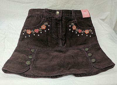 New Gymboree Girls Sz 6 Harvest Leaves Skirt Skort Corduroy Brown/Burgundy