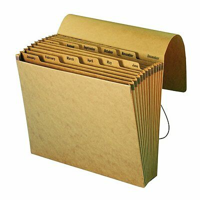 Smead Expanding File, Monthly (Jan.Dec.), 12 Pockets, Flap and Cord Closure,